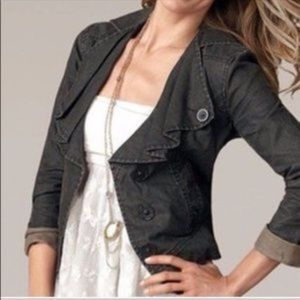 • Cabi • 901 Waxed Linen Moto Jacket Small